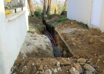 terrassement raccordement reseau fibre optique electricite quimper 1 - Terrassement